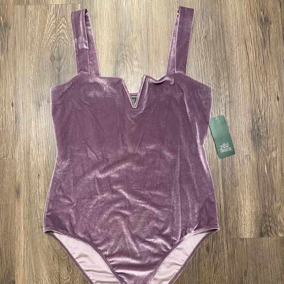 Wild Fable Velvet Bodysuit